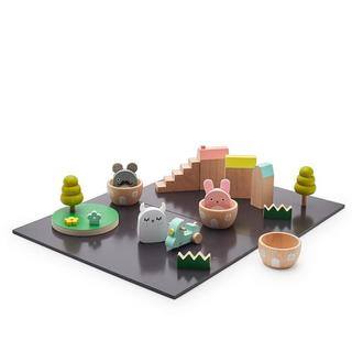 Wooden RiceTown Playset