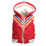 Sleeveless Bomber Jacket - Red