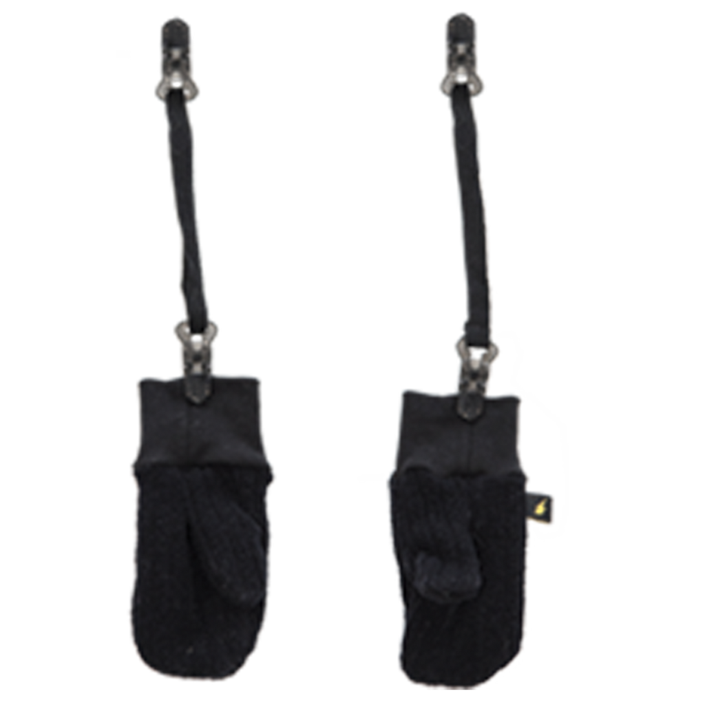 Mitts with clips - Black