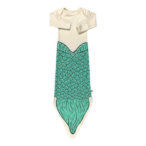 Knotted Gown - Green Mermaid