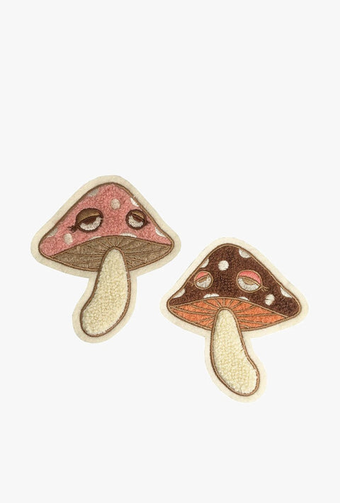 Mushrooms Chenille Patch Set