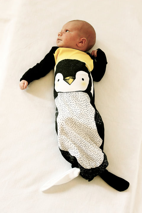 Knotted Gown - Penguin