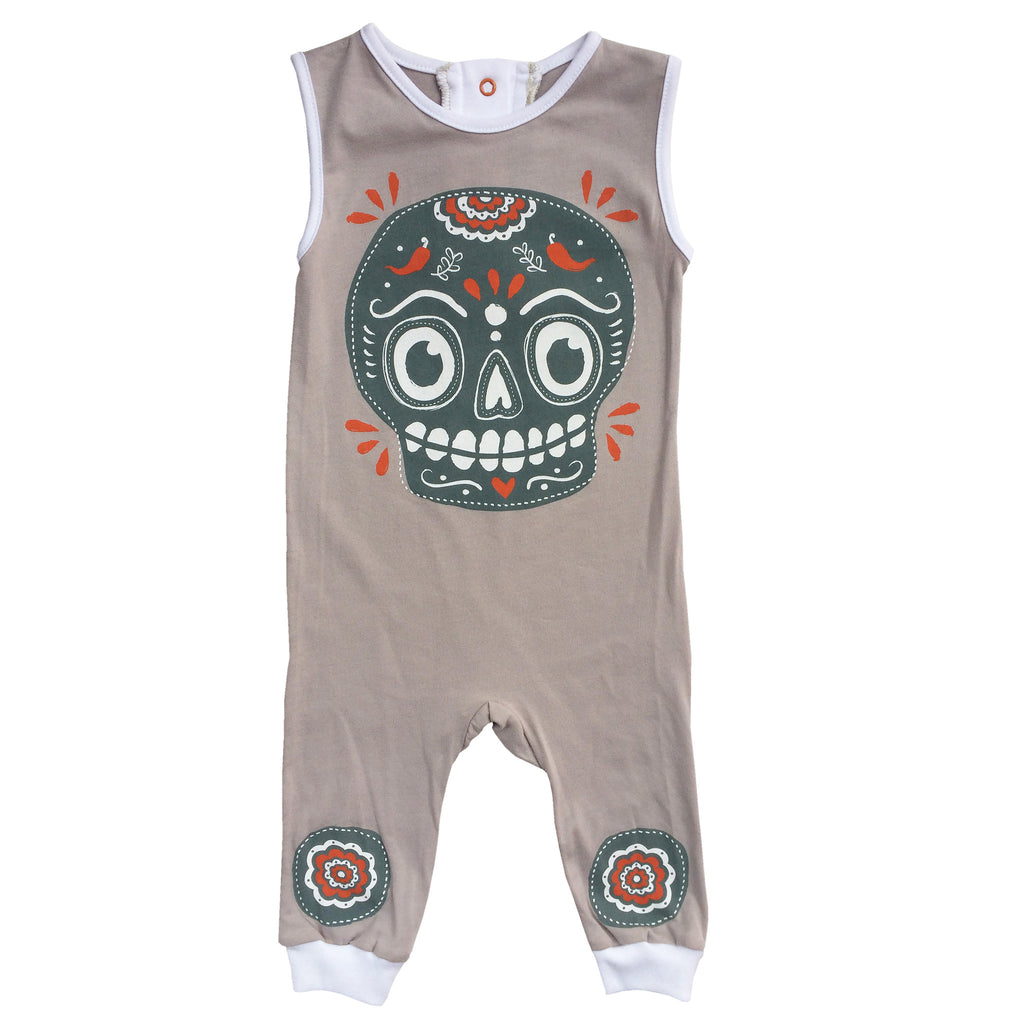 one piece- mexicain skull gris