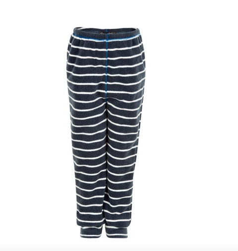 fleece pants - nautical Blue