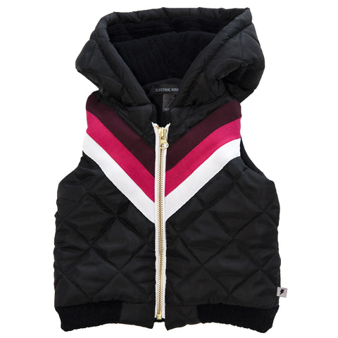 Sleeveless Bomber Jacket - Burgundy