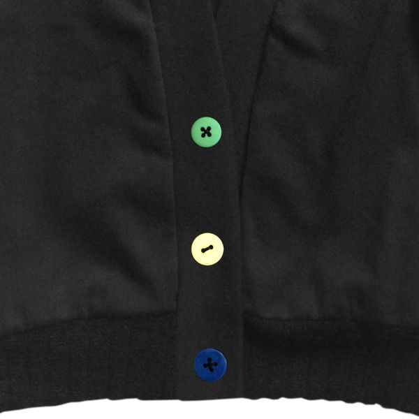 Three-Button Black Cardigan
