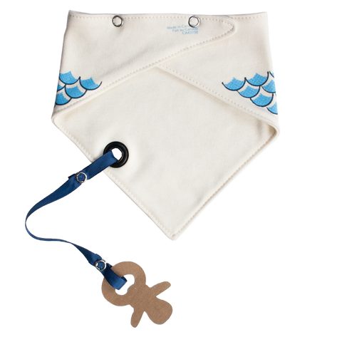 Bandana Bib with snaps - Sailor