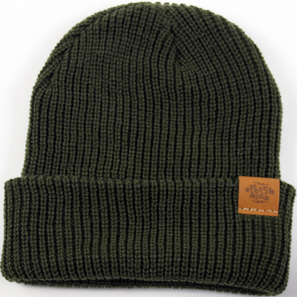Hipster tuque - olive