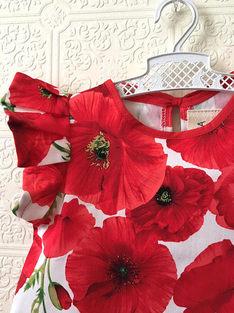 Poppy Flower Dress
