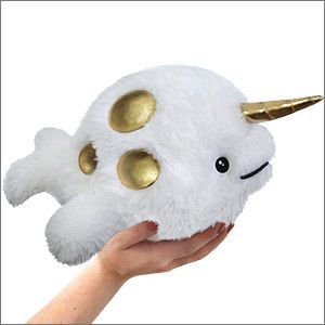 Mini Squishable Golden Narwhal