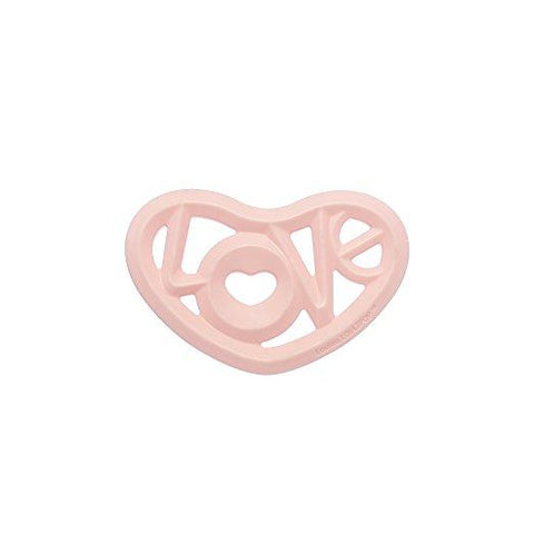 Teether Heart Pink