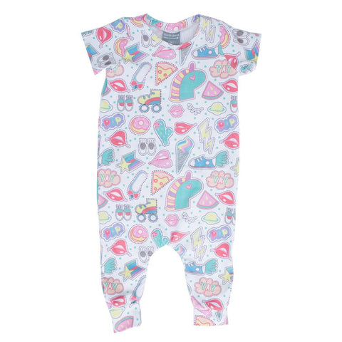 Sticker Collector Sleeved Jersey Romper