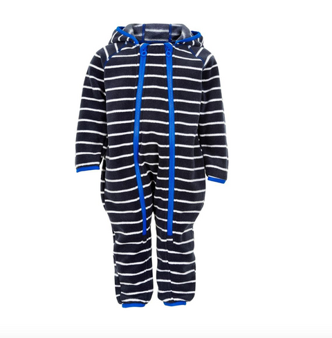 fleece suit - nautical Blue