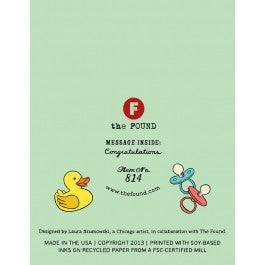 Baby Shower Rubber Ducks Card