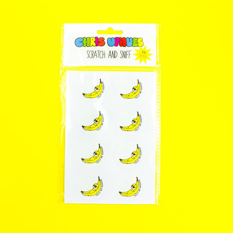 Scratch and Sniff Stickers - Banana