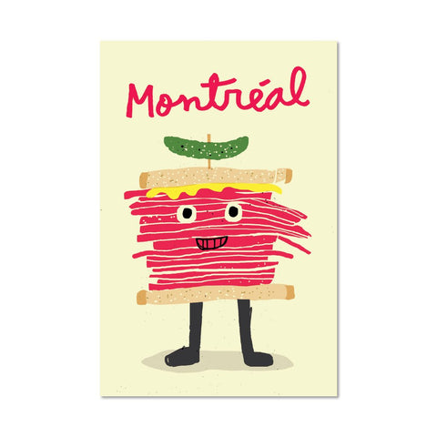 Smoked Meat Postcard