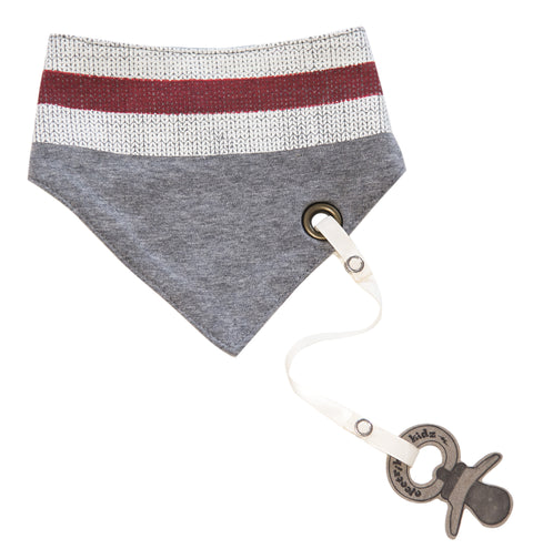 Bandana Bib with snaps - Wool Sock