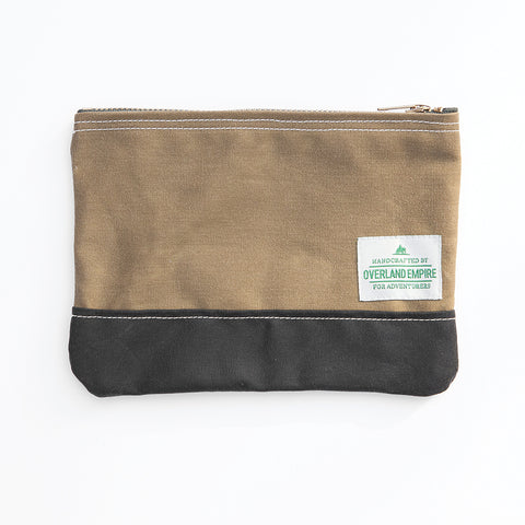 Waxed Cotton Utility Pouch - Two Tone