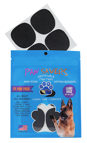 Paw Savers | Disposable Paw Pads for Dogs | L (45 - 58 Pounds)