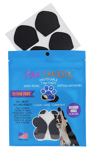 Paw Savers | Disposable Paw Pads for Dogs | M (34 - 44 Pounds)