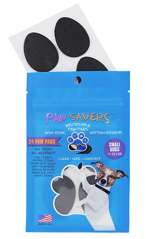 Paw Savers | Disposable Paw Pads for Dogs | S (17 - 33 Pounds)