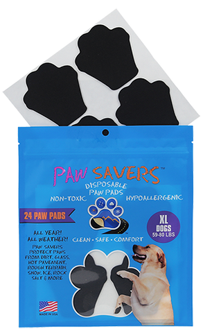 Paw Savers | Disposable Paw Pads for Dogs | XL (59 - 80 Pounds)