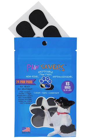 Paw Savers | Disposable Paw Pads for Dogs | XS (9 - 16 Pounds)