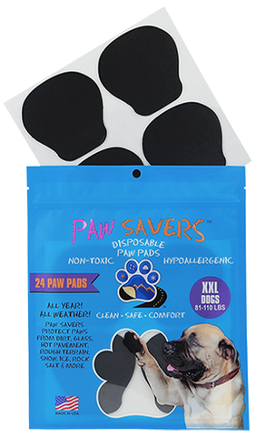 Paw Savers | Disposable Paw Pads for Dogs | XXL (81 - 110 Pounds)