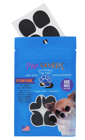Paw Savers | Disposable Paw Pads for Dogs | XXS (4 - 8 Pounds)