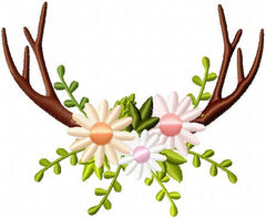 Antlers and Flowers Frame