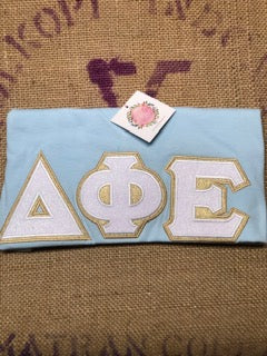 Baby Blue and Bling Sorority Letter Shirt-Sorority Shirt-Auntie J's Designs