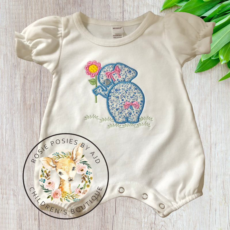 Bashful Elephant-Infant wear-Auntie J's Designs