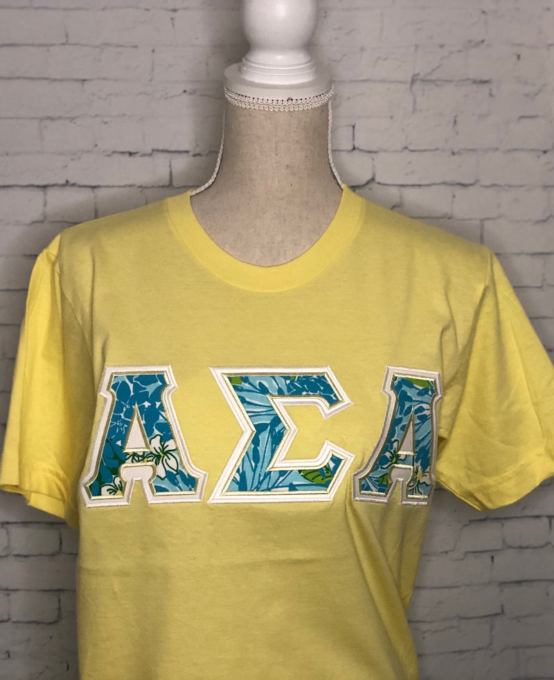 Lilly Blue's American Apparel-Sorority Shirt-Auntie J's Designs