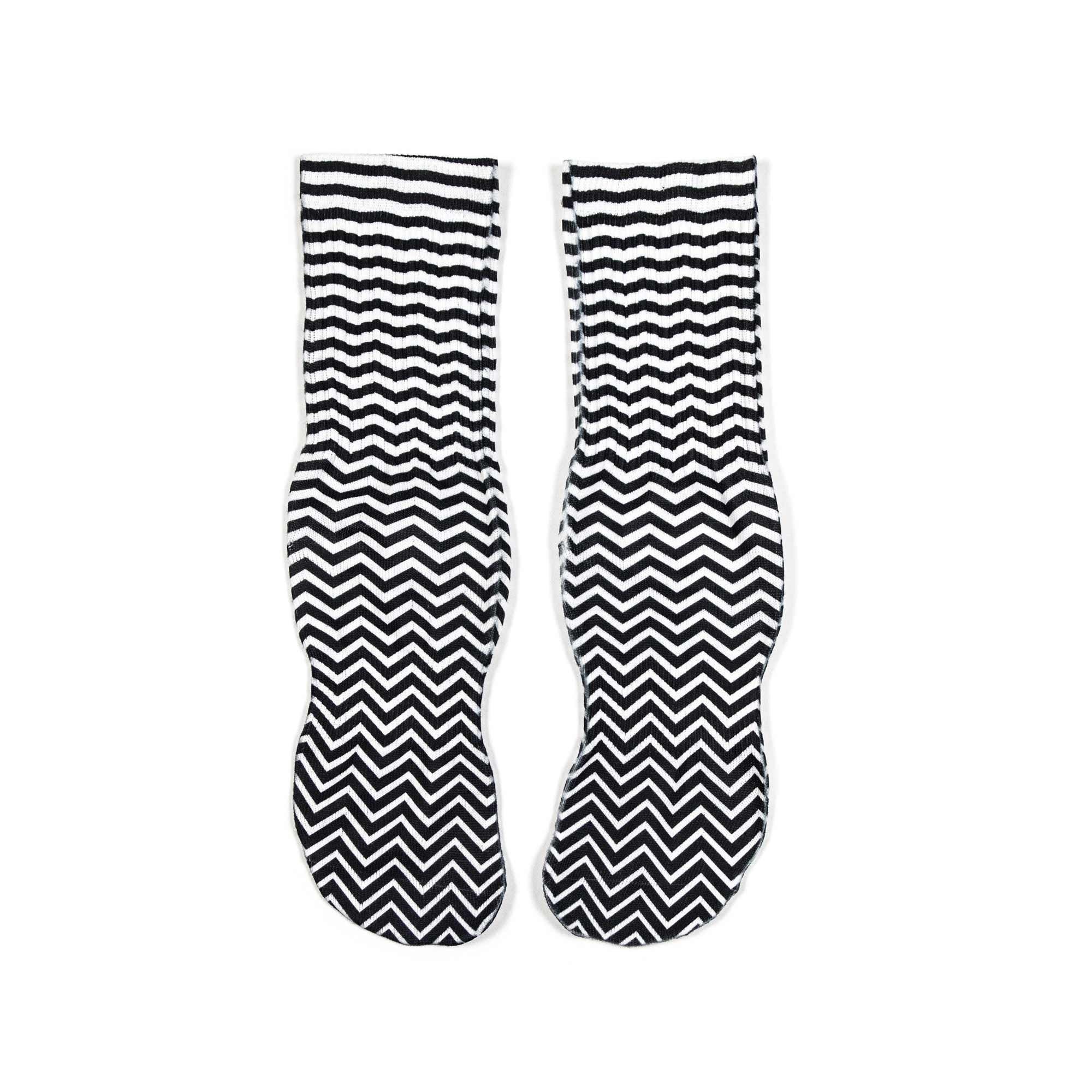 Chevron High Comfort Crew Socks