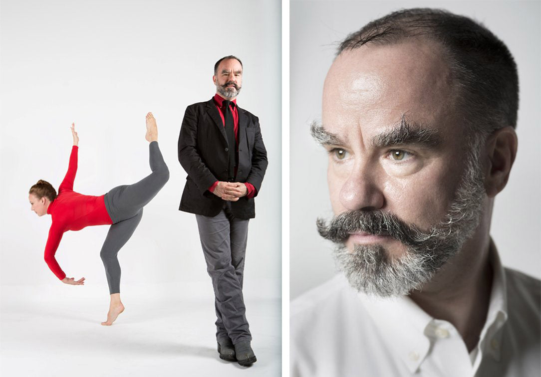 L:  Seán Curran with dancer Elizabeth Coker by David Gonsier, R:  Seán Curran by David Samuel Stern
