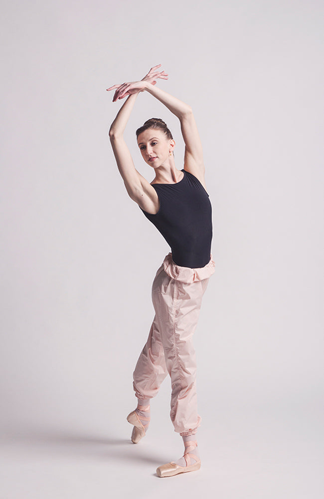 worldwide ballet light pink trashbag pants