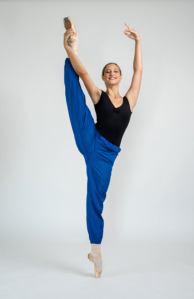 WorldWide Ballet trashbag pants - Royal Blue