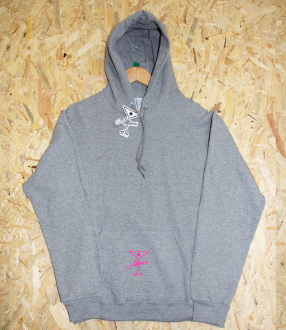 Alltimers, League Player, Hoodie, Grey, screen print, Fleece Lined, Level Skateboards, Brighton, Skate Shop
