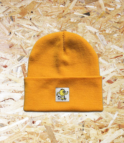 Blast Skates, Swatch Beanie, Yolk, Soft Acrylic, Woven, swatch logo, Brighton, Skate Shop, Level Skateboards, Independent