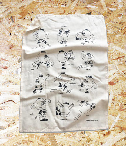 Blast Skates, Tea Towel, Screen-printed, Brighton, Skate Shop, Level Skateboards, Independent