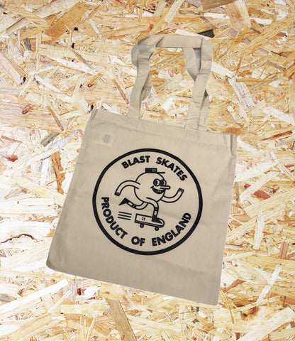 Blast Skates, Classic, Tote Bag, Cotton, 200gsm, Premium cotton, enhanced durability, Handle length, 67cm, Dimensions, 38 x 42 cm, 10 Litres capacity, Printed in London UK, Print on one side,Brighton, Skate Shop, Level Skateboards, Independent