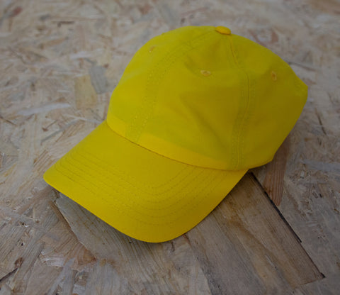 Butter Goods, Climate, 6 Panel, Cap, Yellow, Nylon, curved visor, Shallow fit, Green under-visor, Woven logo label, Custom, woven strap, plastic buckle, Level Skateboards, Brighton, Skate Shop, Independent