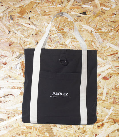 Parlez, Cutter, Tote Bag, Black, Brighton, Skate Shop, Level Skateboards, Independent