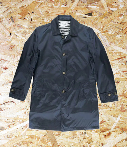 Diamond Supply Co. Radiant Trench Coat Jacket - Navy.  100% Nylon Outer / 100% Polyester Lining / Trench coat styling / Long sleeves with button cuffs / Front button closure / Inner Pocket, Level Skateboards, Brighton, Sale, Independent skate shop.