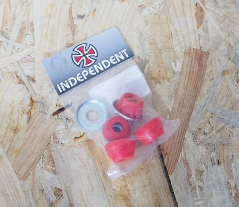 Independent Bushings Standard Soft 90A  Made with an Exclusive High-Rebound Formula that improves grind clearance and adjustability when used with the included washers.  Indy Trucks - #1 Choice of Professional Skateboarders Since 1978, Level Skatebards, Skate Shop, Brighton