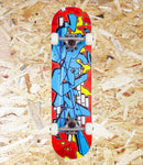 Rocket Complete Skateboard Bricks Mini - Multi Coloured.  Deck: 7 ply Hardrock Maple Trucks: 5'' raw finish w/ Logo & 85a PU Cast cushion Wheels: 52mm x 30mm 92a Bearings: Abec 5  Size: 7.375 x 29 inch, Level Skateboards, Brighton, Local Skate Shop, Independent