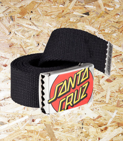 Santa Cruz, Crop Dot, Belt, Black, Brighton, Skate Shop, Level Skateboards, Independent