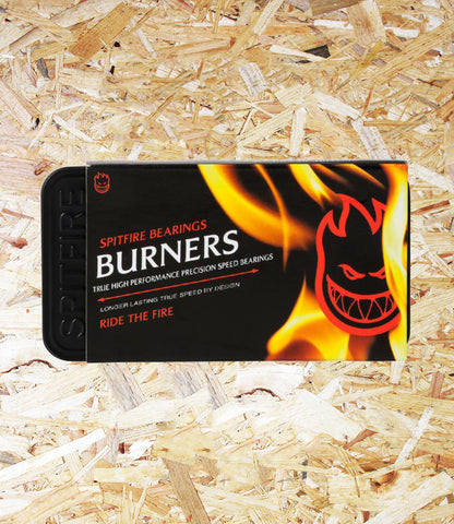 Spitfire Burner Bearings, High Performance, Red, 8mm, Ride the Fire, Level Skateboards, Independent Skate Shop, Brighton.