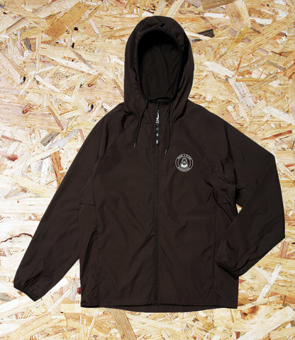 Volcom, Macba Life, Hooded windbreaker, Zip front closure, Elastic detail at cuff and hem, Packable, Reflective logo at chest and back, Brighton, Skate Shop, Level Skateboards, Independent