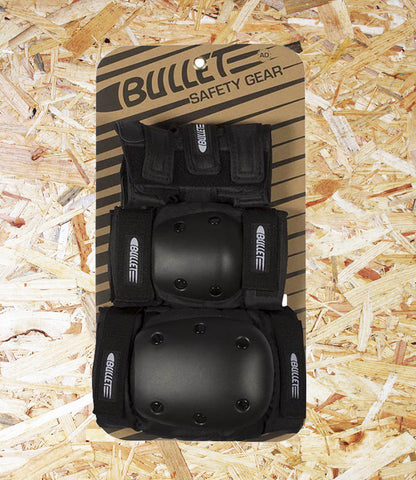 Bullet, Pad Set, Adult, Black, Brighton, Skate Shop, Level Skateboards, Indoendent